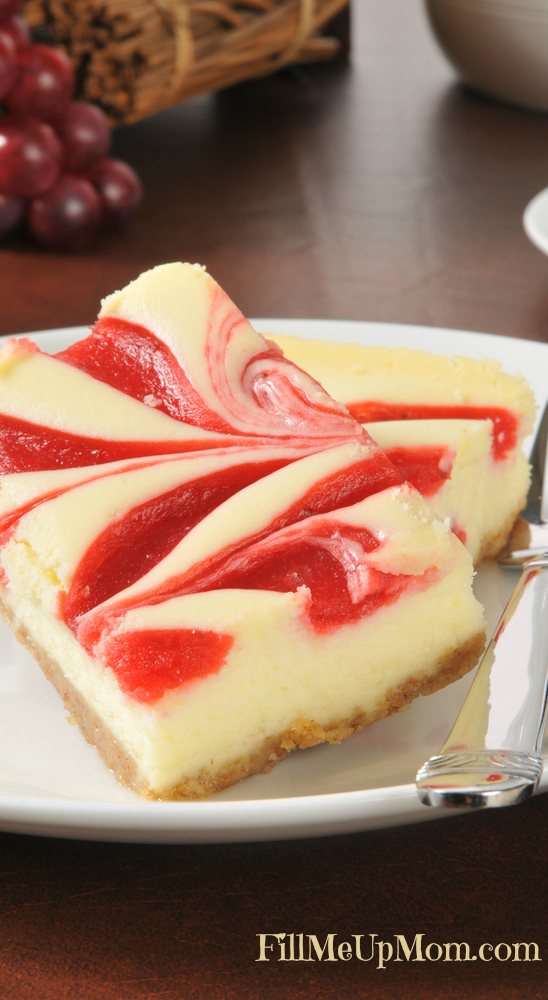 Cheesecake with Raspberry Swirls 2