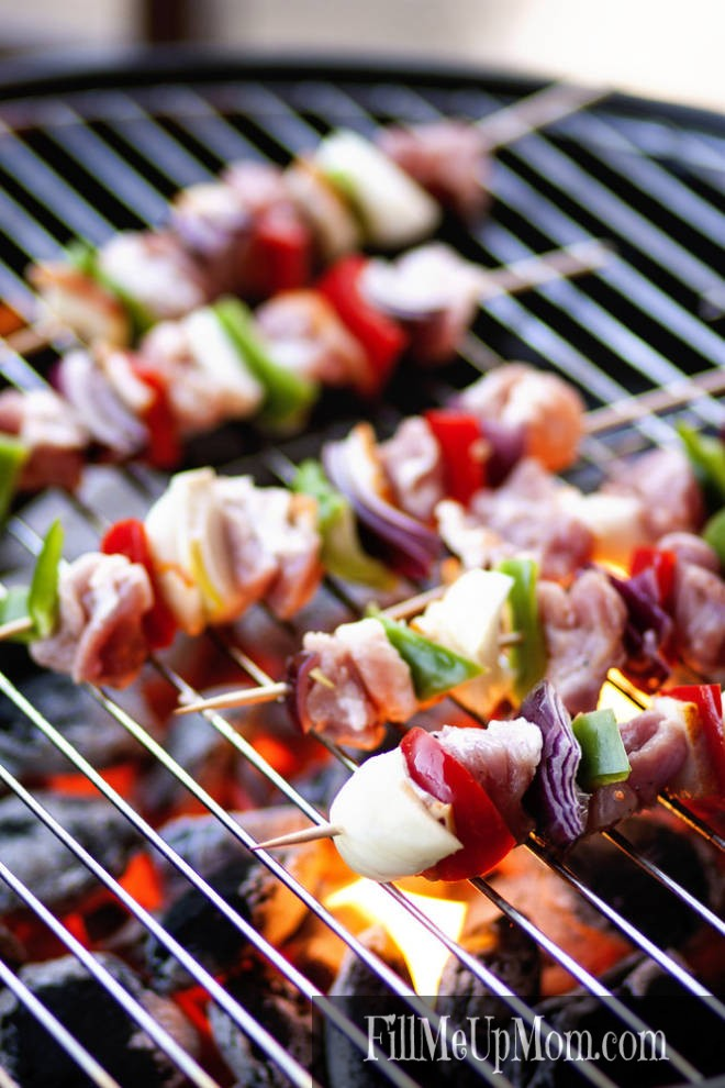 Barbecued Beef & Vegetable Kebabs